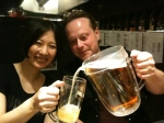 Pub crawl - Jesper Lind & our japanese tourmanager assistent